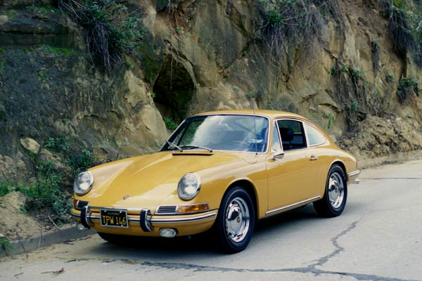 Lawrence's 1966 911 in the Silverlake District, Los Angeles 1969