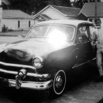 Lanny at age 16 with his 1951 Ford, his first car