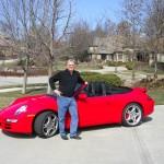 le pilote Porsche